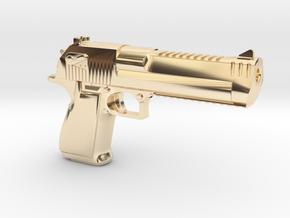 Desert Eagle Keychain in 14K Yellow Gold