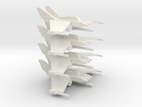 [5] 4x Fighter-Interceptor in White Natural Versatile Plastic