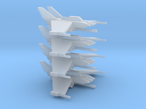 [5] 4x Fighter-Interceptor in Smooth Fine Detail Plastic