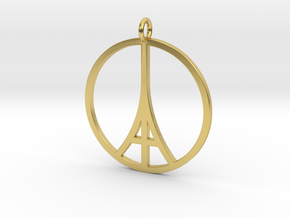 Paris Peace Pendant in Polished Brass