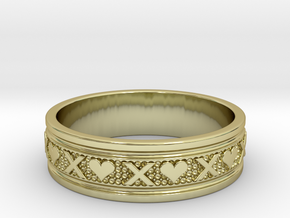 Size 11 Xoxo Ring B in 18k Gold Plated Brass