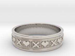 Size 12 Xoxo Ring B in Platinum