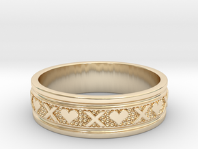 Size 13 Xoxo Ring B in 14k Gold Plated Brass