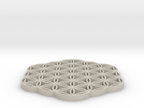 FlowerOfLife in Natural Sandstone