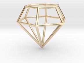 Diamond Frame Pendant in 14K Yellow Gold