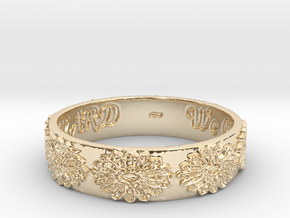 Vangaurd 2B 8.5 Ring Size 8.5 in 14k Gold Plated Brass
