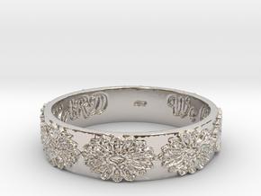 Vangaurd 2B 8.5 Ring Size 8.5 in Rhodium Plated Brass