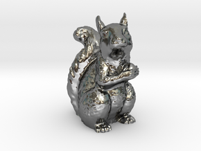 Guardian Squirrel in Fine Detail Polished Silver