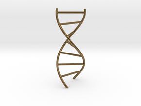DNA Pendant in Polished Bronze