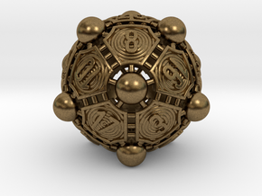 Nucleus D20 in Natural Bronze