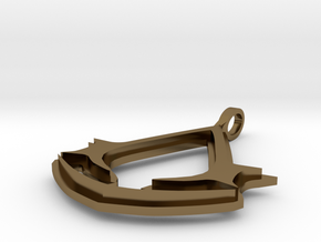 AC Necklace V11 in Polished Bronze