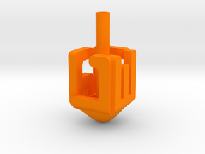 "Dreidel ""NESS GADOL HAYA SHAM"" in Orange Processed Versatile Plastic"