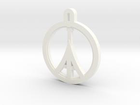Paris Peace in White Processed Versatile Plastic