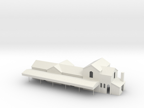 N Scale Lingfield Station 1:148 in White Natural Versatile Plastic