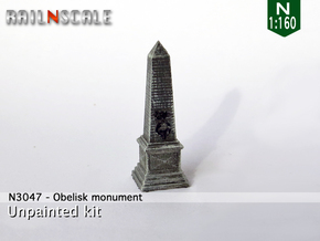 Obelisk monument (N 1:160) in Smooth Fine Detail Plastic