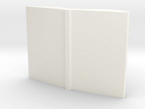 Book Pendant with customizable cover! in White Processed Versatile Plastic
