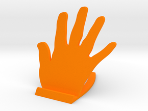 Hand stand for tablet in Orange Processed Versatile Plastic