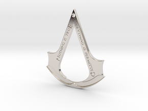 Assassin's creed logo-bottle opener (with hole) in Platinum