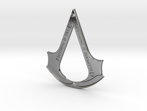 Assassin's creed logo-bottle opener (with hole) in Fine Detail Polished Silver