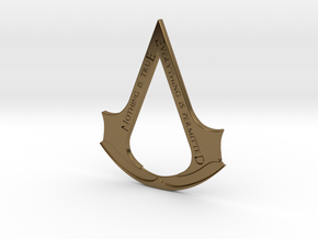 Assassin's creed logo-bottle opener  in Polished Bronze