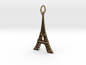 Eiffel Tower Earring Ornament in Polished Bronze
