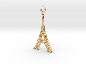 Eiffel Tower Earring Ornament in 14k Gold Plated Brass