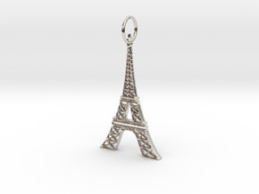 Eiffel Tower Earring Ornament in Rhodium Plated Brass