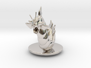 Gyarados  Pokemon in Rhodium Plated Brass