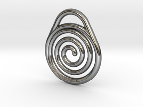 DRAW pendant - hypnotize in Fine Detail Polished Silver
