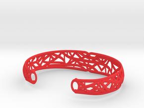 Radici Bracelet, Open, S 55 mm in Red Processed Versatile Plastic