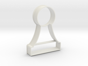 Cookie Cutter - Chess Piece Pawn in White Natural Versatile Plastic