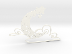 Luminous Dream 1 - 5cm Silhouette 2D in White Processed Versatile Plastic