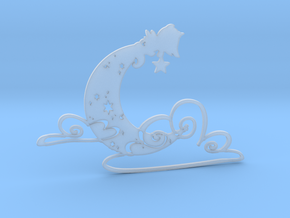 Luminous Dream 1 - 5cm Silhouette 2D in Smooth Fine Detail Plastic