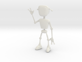 Andy Robot 3D in White Natural Versatile Plastic