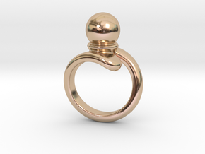 Fine Ring 25 - Italian Size 25 in 14k Rose Gold Plated Brass