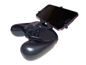Steam controller & Samsung Galaxy S6 - Front Rider in Black Natural Versatile Plastic