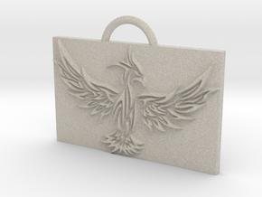 Phoenix in Flight in Natural Sandstone