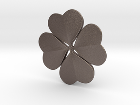 NEW! Lucky Clover NUT, for M6 x1 Screw in Polished Bronzed Silver Steel
