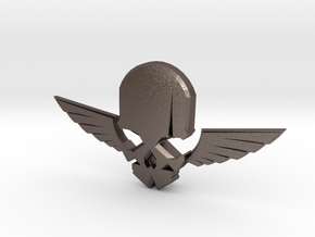 NEW! Skull & Wing NUT, for M6 x1 Screw in Polished Bronzed Silver Steel