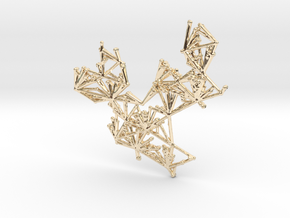 Glitch Necklace / Pendant v.1 in 14k Gold Plated Brass