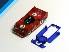 1/32 SRC Alfa Romeo 33TT12 Chassis for Slot.it pod in Blue Processed Versatile Plastic