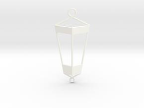 Lantern Pendant in White Processed Versatile Plastic