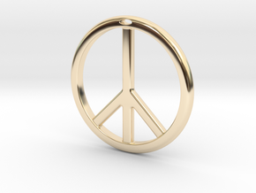 Peace Symbol in 14K Gold