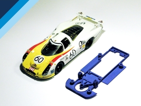 1/32 SRC Porsche 907 / 908 Chassis for Slot.it pod in White Natural Versatile Plastic