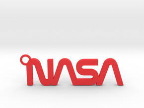 Nasa Keychain in Red Strong & Flexible Polished