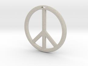 Peace Symbol in Natural Sandstone