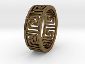 KlFingMäanderBor Ring Size 8.5 in Natural Bronze