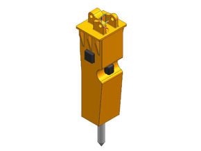 HO 1/87 hydraulic hammer in Smooth Fine Detail Plastic