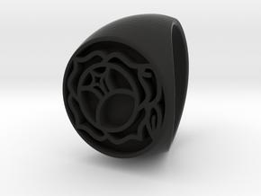 Utena Signet Ring Size 4.5  in Black Strong & Flexible