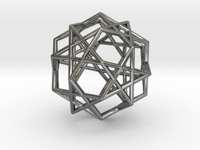 Star Dodecahedron in Fine Detail Polished Silver